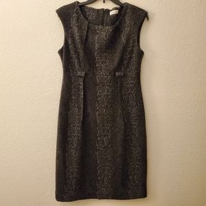Calvin Klein Snake Print Sleeveless Dress Sz 10